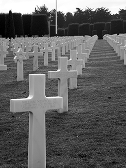 Headstone at the Normandy American Cemetery