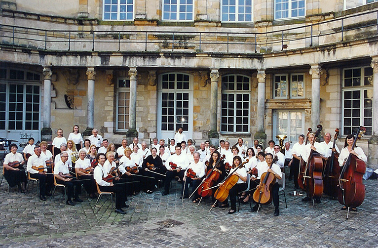Orchestra performing in Normandy